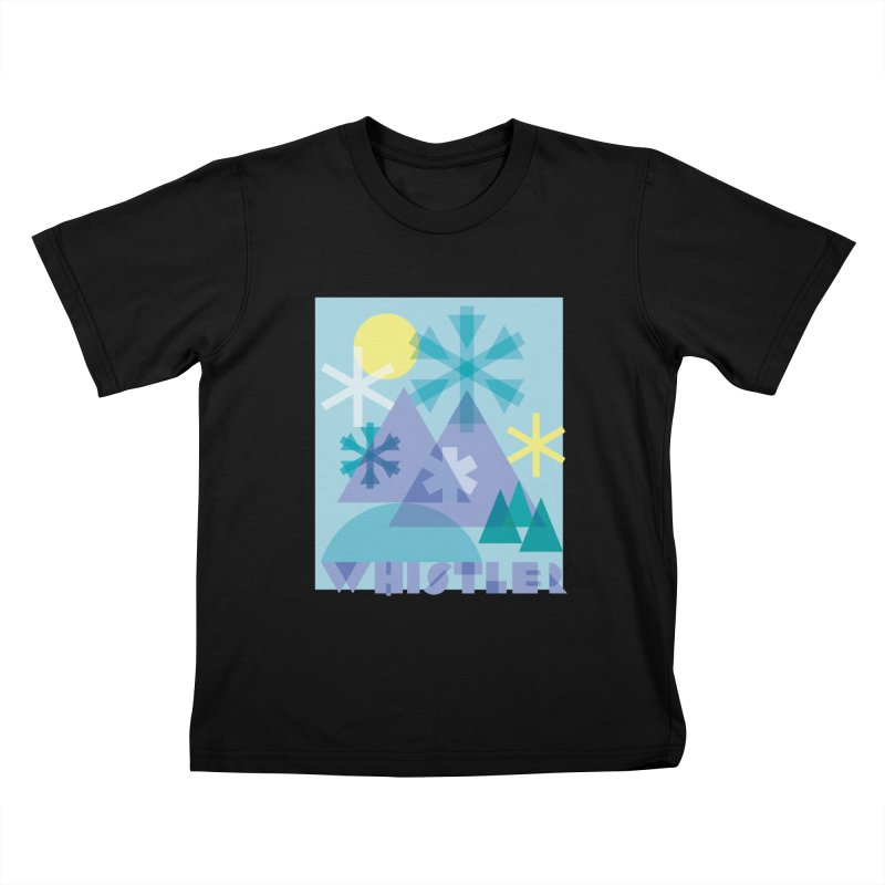 Whistler snowflakes Kids T-Shirt by rad mountain designs by Ginette