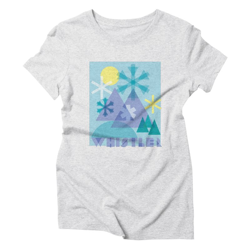 Whistler snowflakes Women's Triblend T-Shirt by rad mountain designs by Ginette