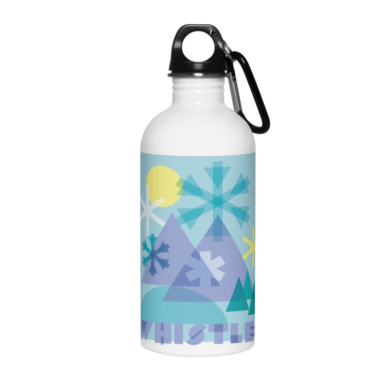 Whistler snowflakes Accessories Water Bottle by rad mountain designs by Ginette