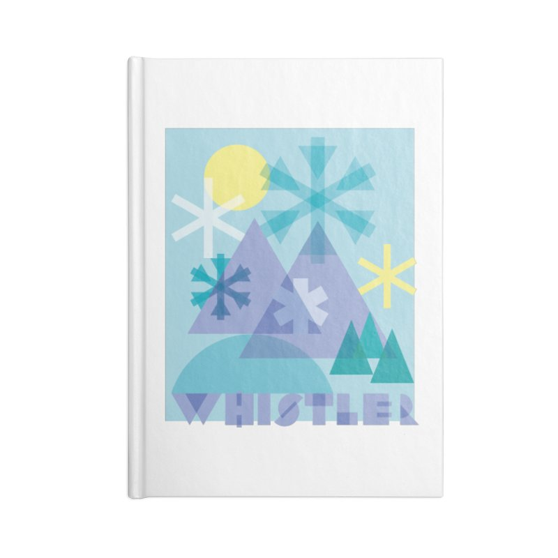 Whistler snowflakes Accessories Lined Journal Notebook by rad mountain designs by Ginette