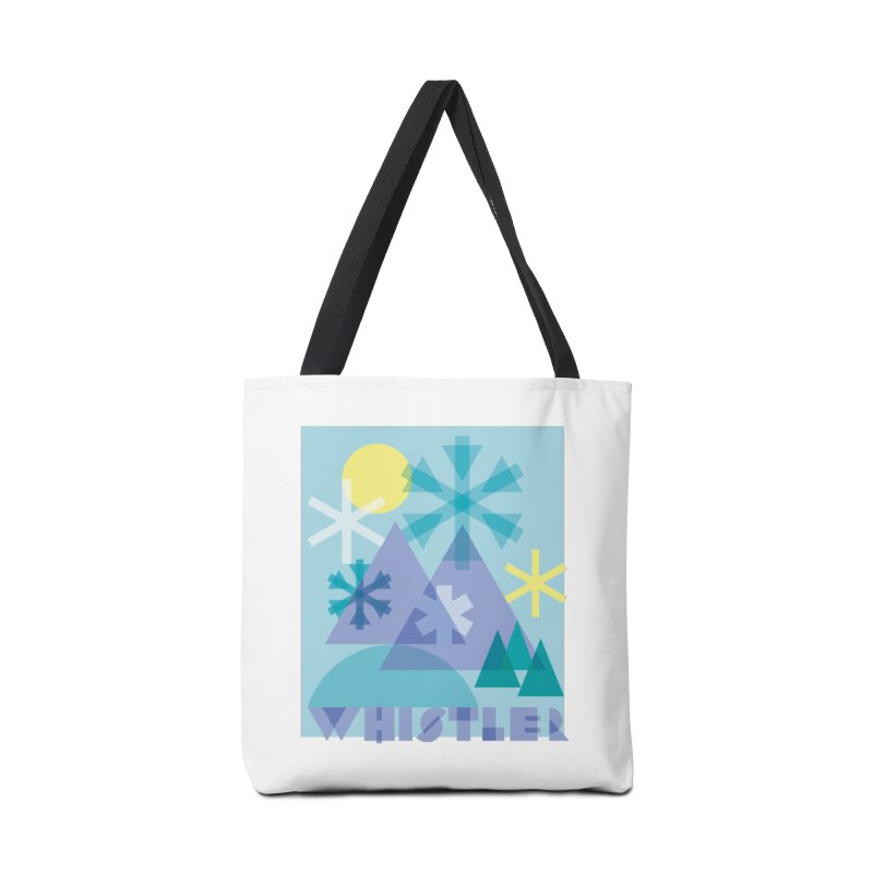 Whistler snowflakes Accessories Bag by rad mountain designs by Ginette