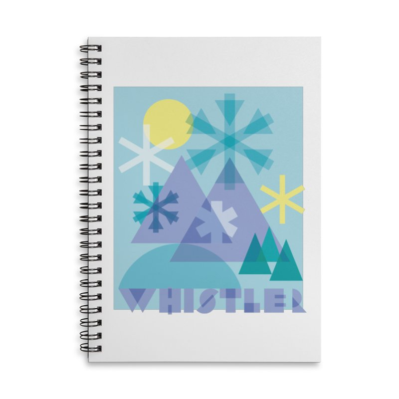 Whistler snowflakes Accessories Lined Spiral Notebook by rad mountain designs by Ginette