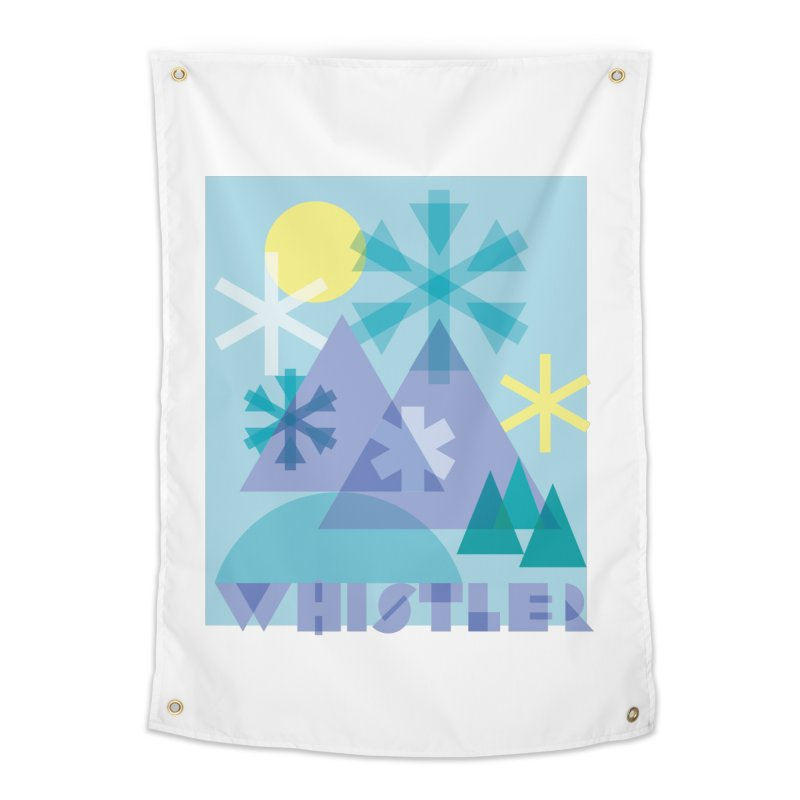 Whistler snowflakes Home Tapestry by rad mountain designs by Ginette