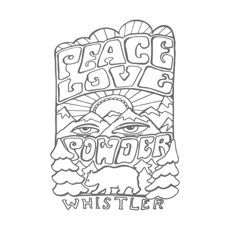 Peace Love Powder Home Fine Art Print by rad mountain designs by Ginette