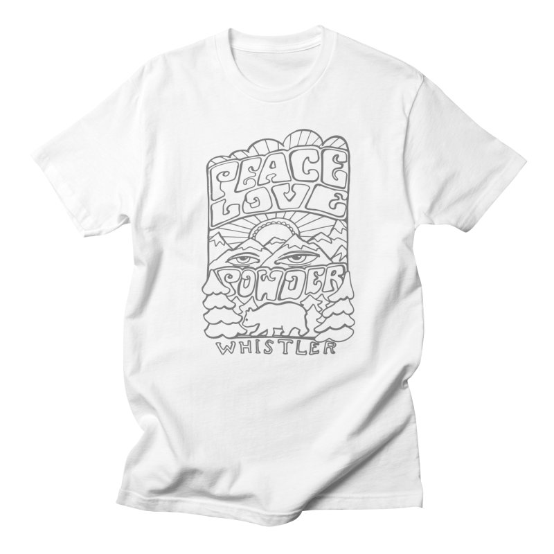 Peace Love Powder Men's T-Shirt by rad mountain designs by Ginette