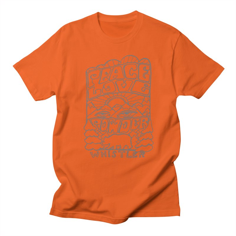 Peace Love Powder Women's T-Shirt by rad mountain designs by Ginette
