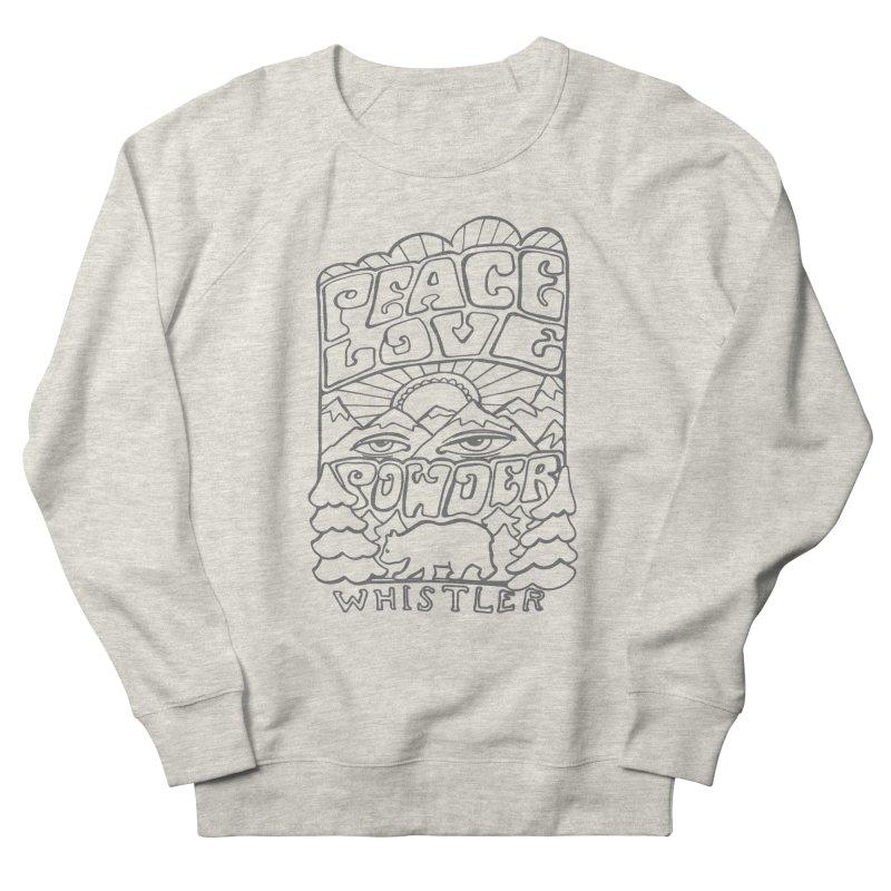 Peace Love Powder Women's Sweatshirt by rad mountain designs by Ginette