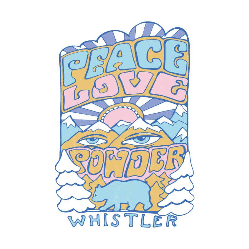 Peace Love Powder colours Accessories Bag by rad mountain designs by Ginette