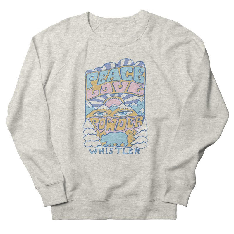 Peace Love Powder colours Women's Sweatshirt by rad mountain designs by Ginette