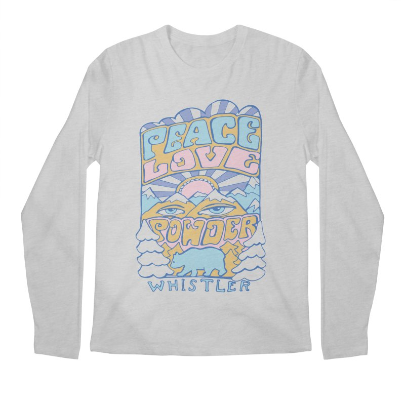 Peace Love Powder colours Men's Regular Longsleeve T-Shirt by rad mountain designs by Ginette
