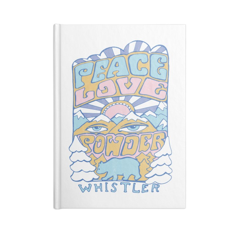 Peace Love Powder colours Accessories Notebook by rad mountain designs by Ginette