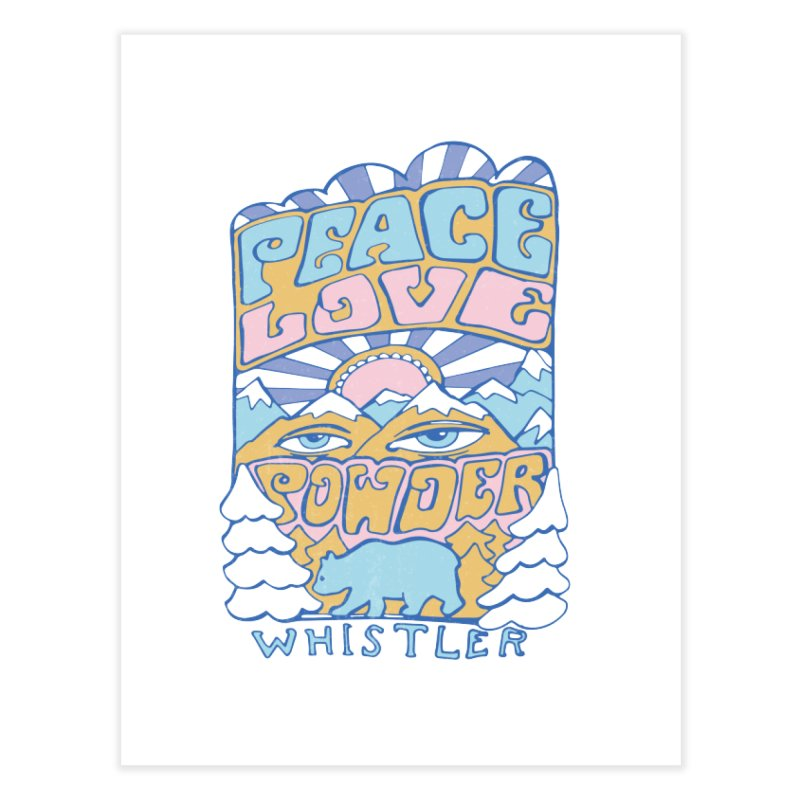 Peace Love Powder colours Home Fine Art Print by rad mountain designs by Ginette