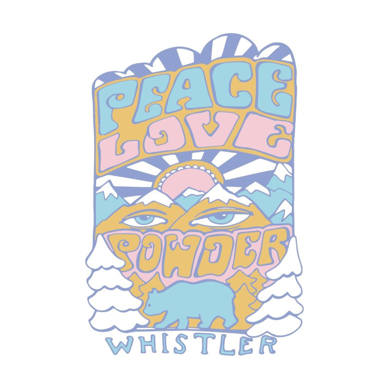 Peace Love Powder colours by rad mountain designs by Ginette