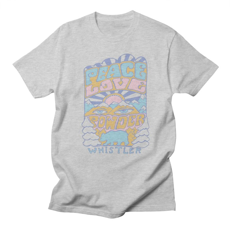 Peace Love Powder colours Men's T-shirt by rad mountain designs by Ginette