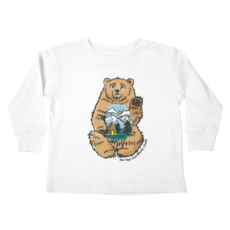Happy belly bear Kids Toddler Longsleeve T-Shirt by rad mountain designs by Ginette
