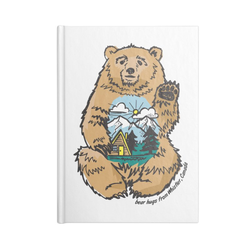 Happy belly bear Accessories Lined Journal Notebook by rad mountain designs by Ginette