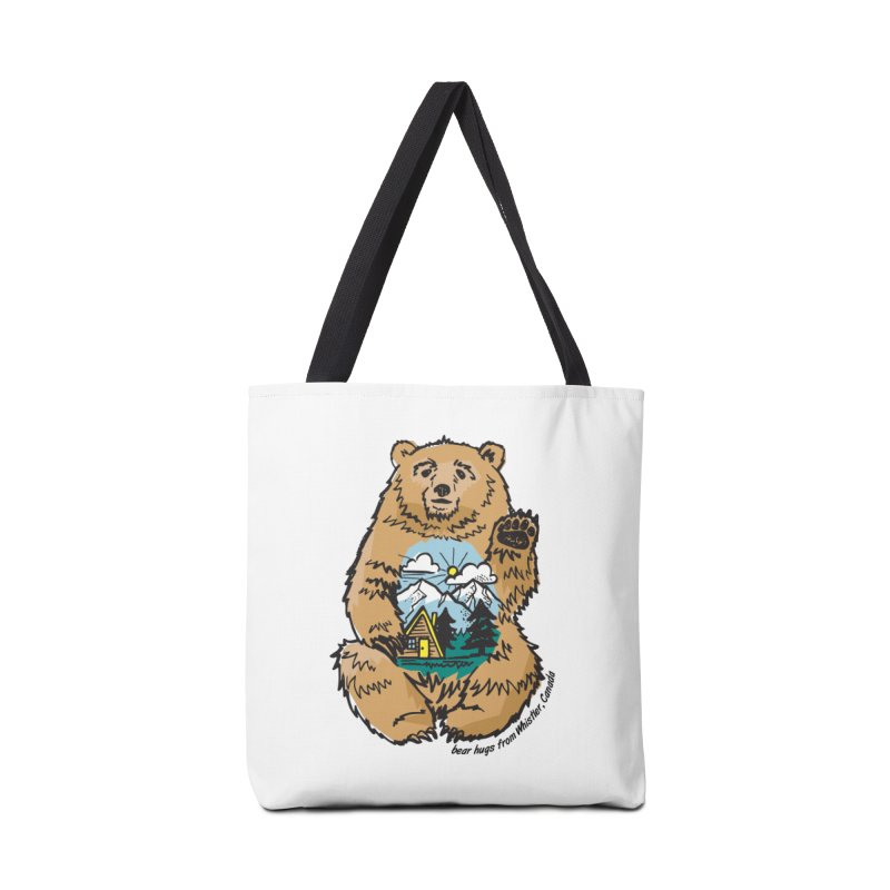Happy belly bear Accessories Bag by rad mountain designs by Ginette