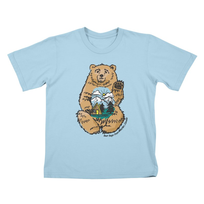 Happy belly bear Kids T-Shirt by rad mountain designs by Ginette