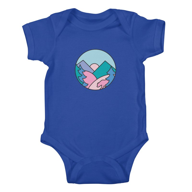 Mountain vibes Kids Baby Bodysuit by rad mountain designs by Ginette