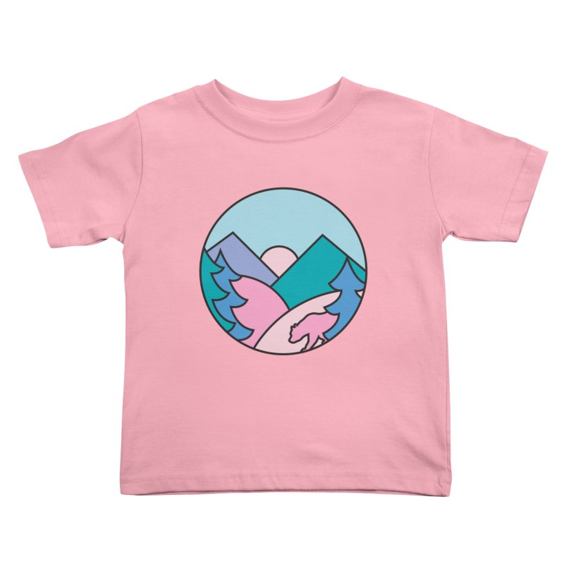Mountain vibes Kids Toddler T-Shirt by rad mountain designs by Ginette