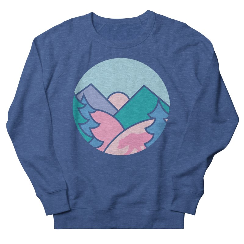 Circle bear Women's French Terry Sweatshirt by rad mountain designs by Ginette