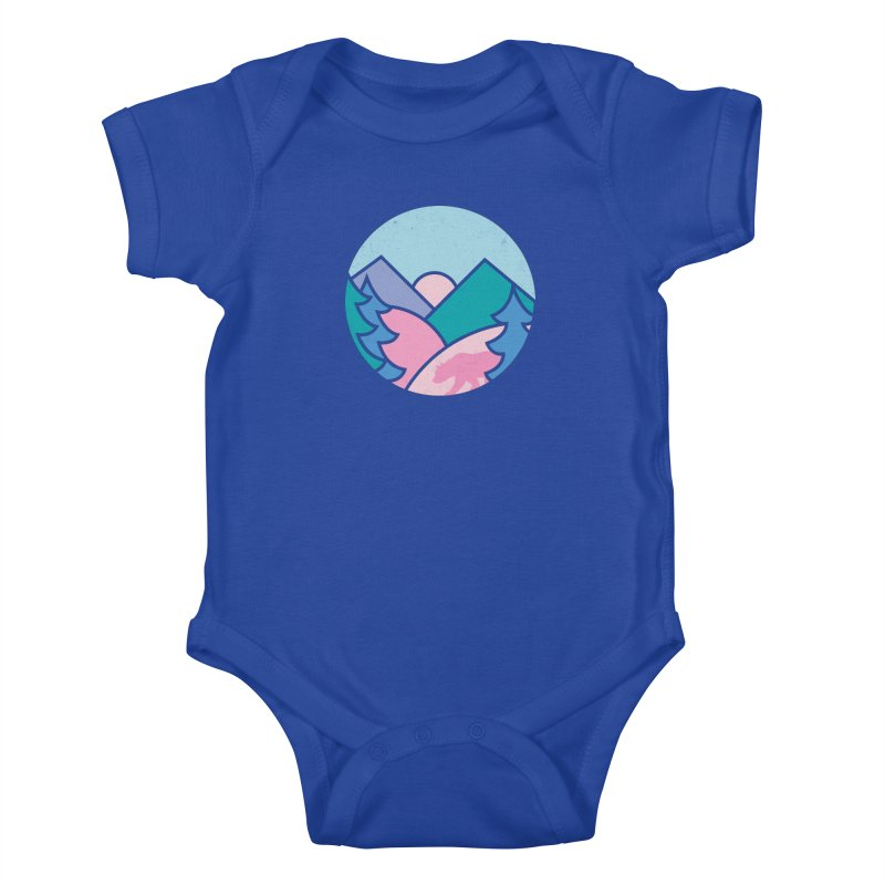 Circle bear Kids Baby Bodysuit by rad mountain designs by Ginette
