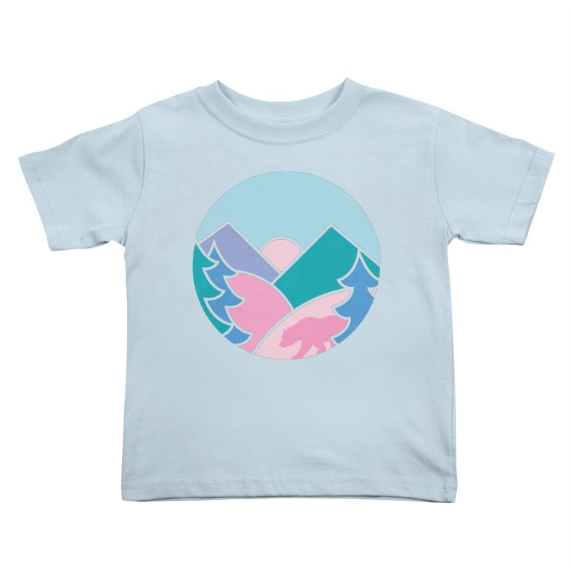Circle bear Kids Toddler T-Shirt by rad mountain designs by Ginette