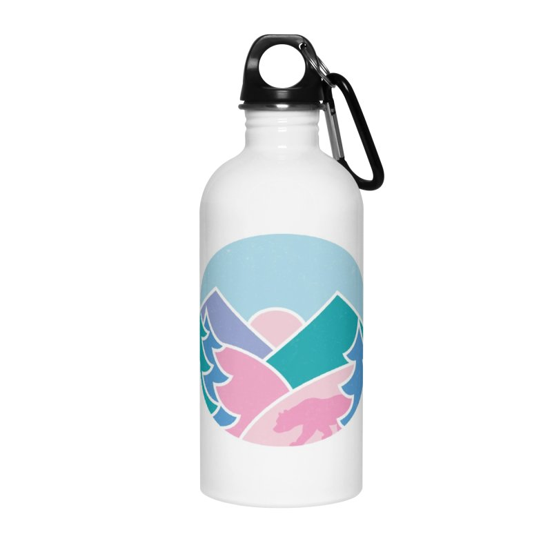 Circle bear Accessories Water Bottle by rad mountain designs by Ginette