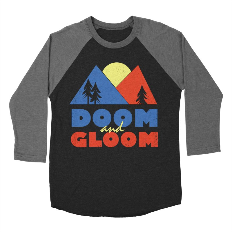 Doom and Gloom Men's Baseball Triblend Longsleeve T-Shirt by rad mountain designs by Ginette