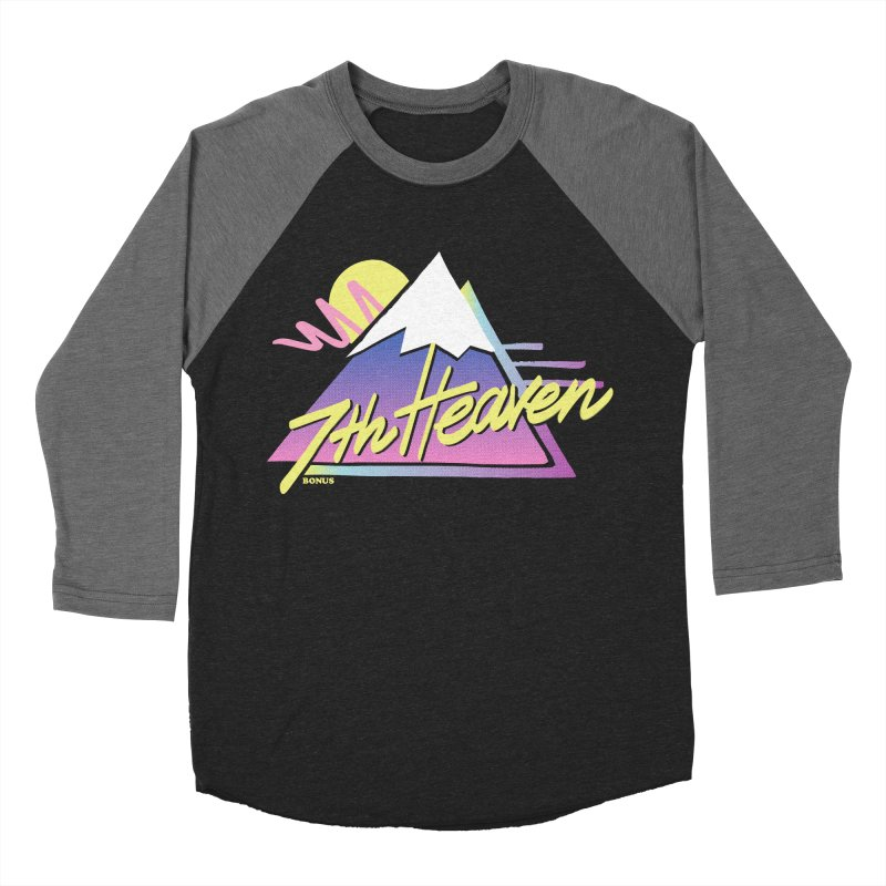 7th Heaven Women's Baseball Triblend Longsleeve T-Shirt by rad mountain designs by Ginette