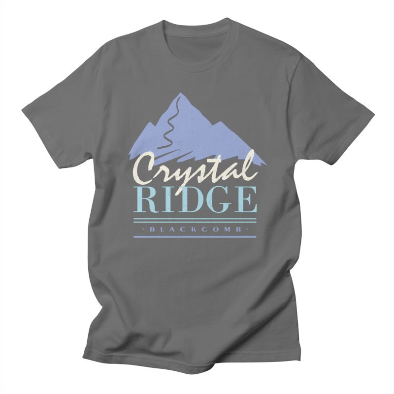 Crystal Ridge Men's T-Shirt by rad mountain designs by Ginette
