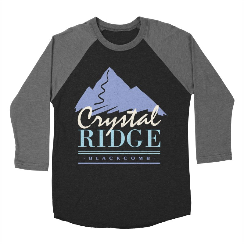Crystal Ridge Men's Baseball Triblend Longsleeve T-Shirt by rad mountain designs by Ginette