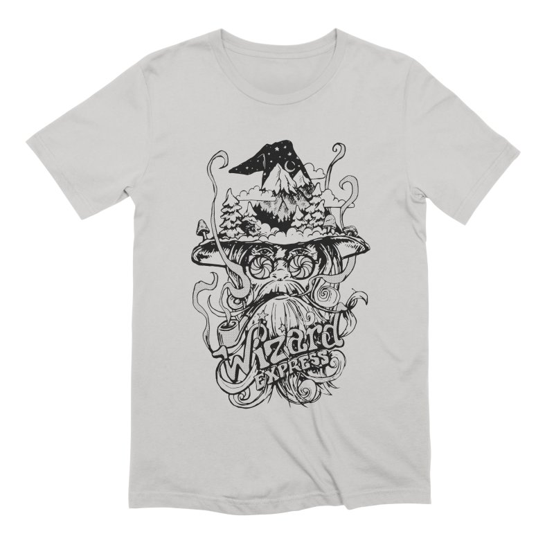 Wizard Express Men's Extra Soft T-Shirt by rad mountain designs by Ginette