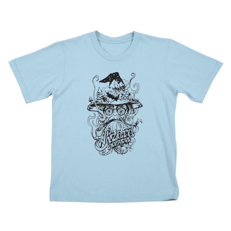 Wizard Express Kids T-Shirt by rad mountain designs by Ginette