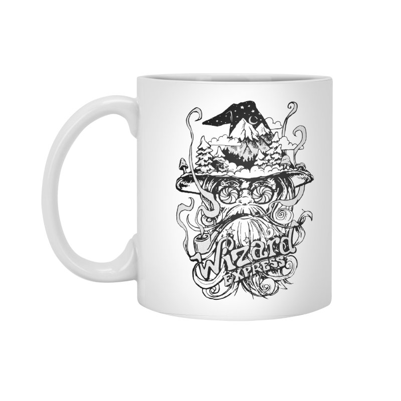 Wizard Express Accessories Standard Mug by rad mountain designs by Ginette