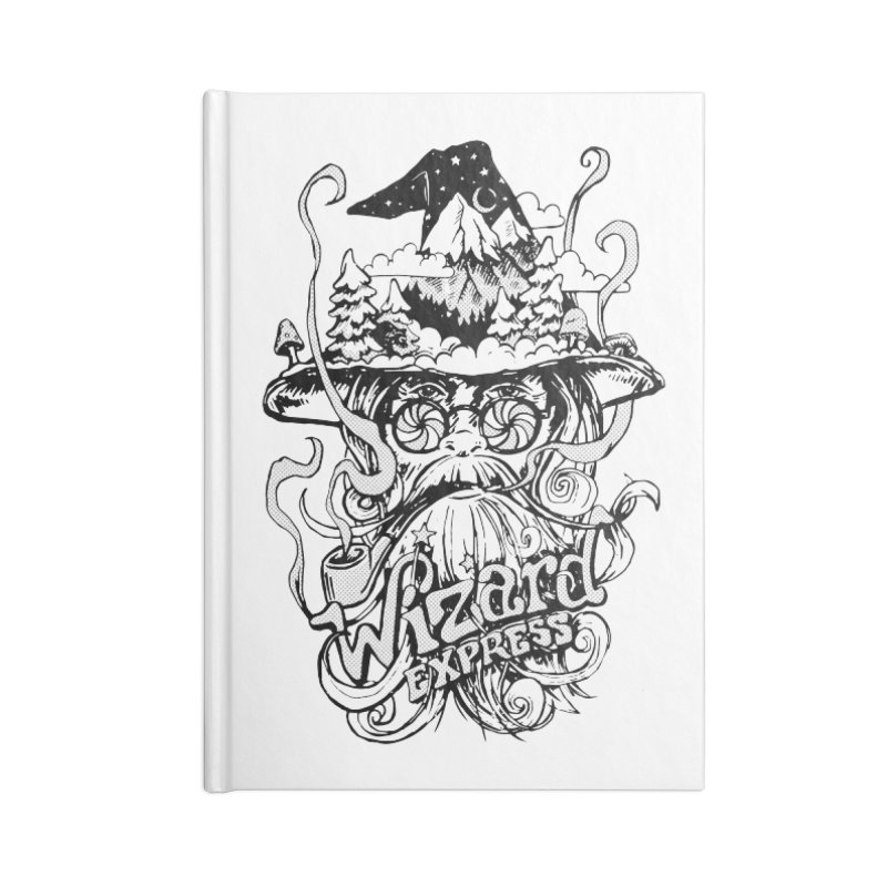 Wizard Express Accessories Lined Journal Notebook by rad mountain designs by Ginette