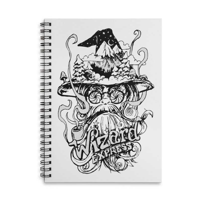 Wizard Express Accessories Lined Spiral Notebook by rad mountain designs by Ginette