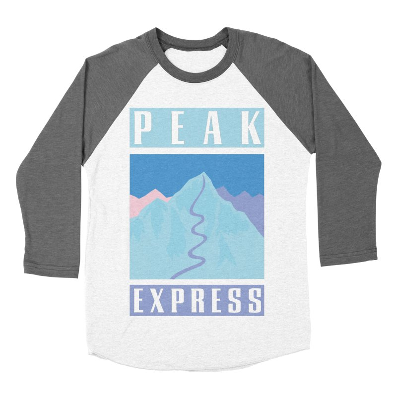 Peak Express Women's Baseball Triblend Longsleeve T-Shirt by rad mountain designs by Ginette