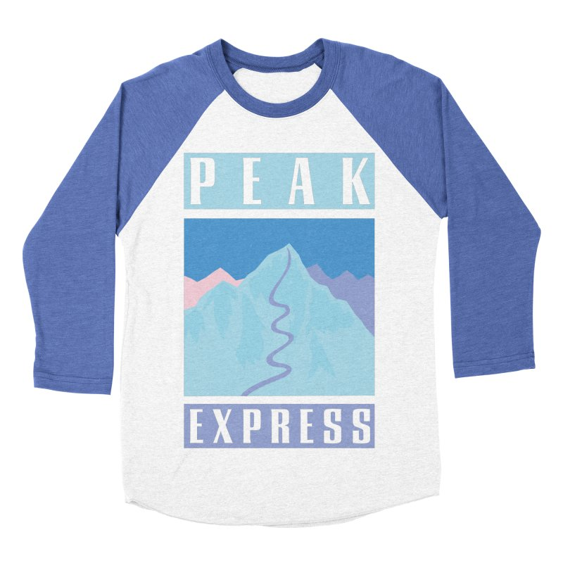 Peak Express Men's Baseball Triblend Longsleeve T-Shirt by rad mountain designs by Ginette