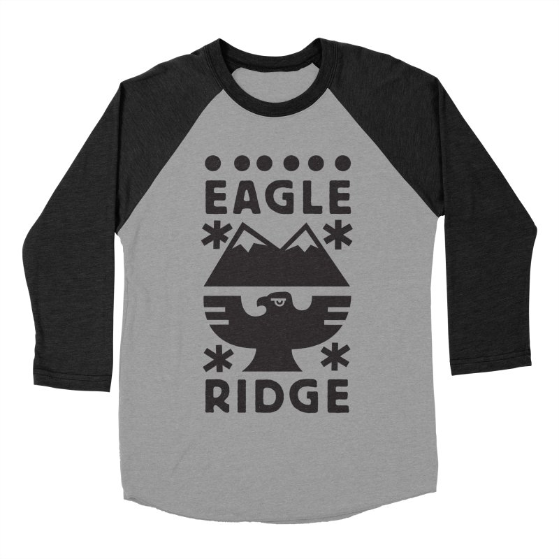 Eagle Ridge Women's Baseball Triblend Longsleeve T-Shirt by rad mountain designs by Ginette