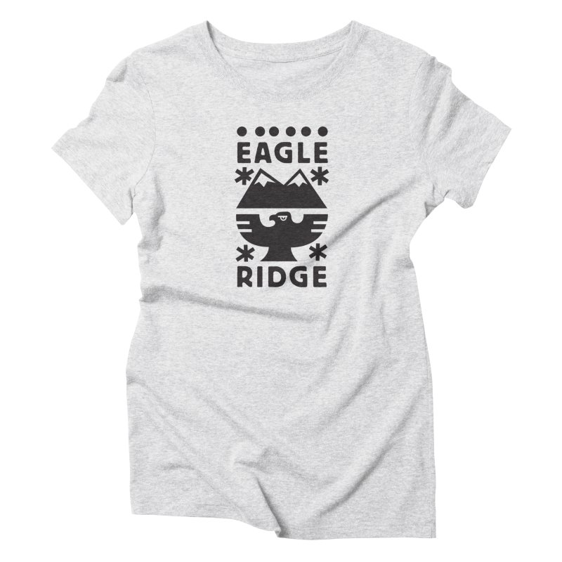 Eagle Ridge Women's T-Shirt by rad mountain designs by Ginette