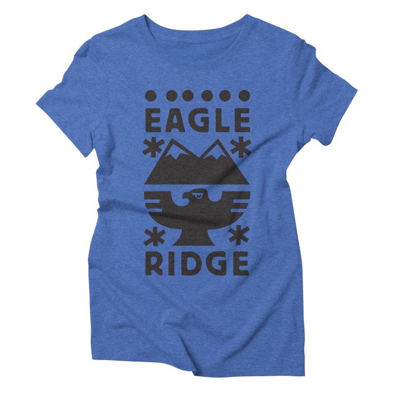 Eagle Ridge Women's Triblend T-Shirt by rad mountain designs by Ginette