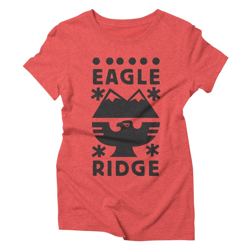 Eagle Ridge Women's Triblend T-Shirt by rad mountain designs by Ginette