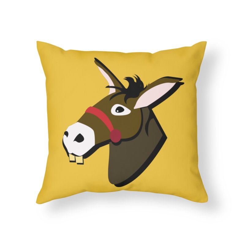 The Mule in Throw Pillow by Ginger's Shop