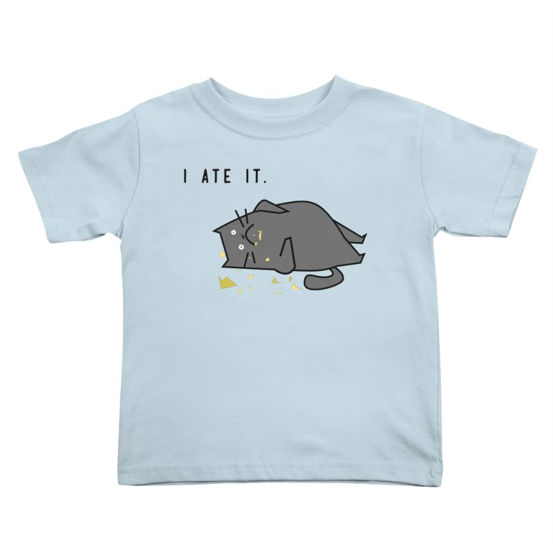 The Cat Ate It Kids Toddler T-Shirt by Ginger's Shop