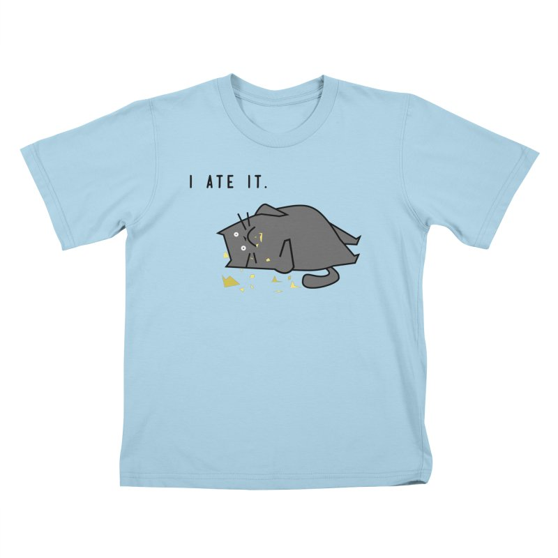 The Cat Ate It Kids T-Shirt by Ginger's Shop