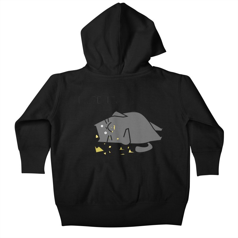 The Cat Ate It Kids Baby Zip-Up Hoody by Ginger's Shop