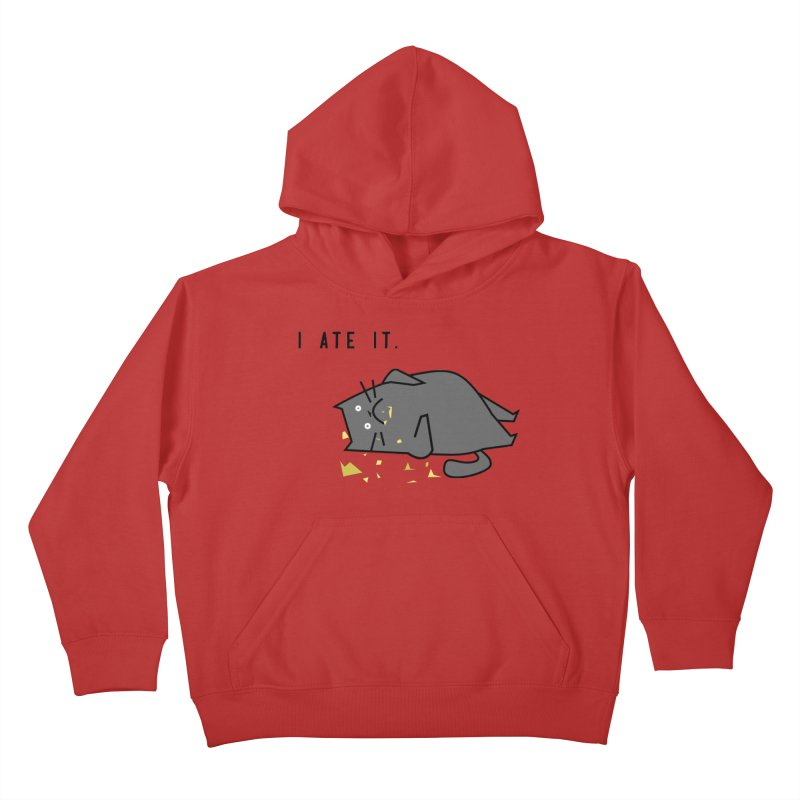 The Cat Ate It Kids Pullover Hoody by Ginger's Shop