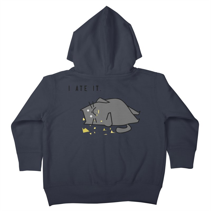 The Cat Ate It Kids Toddler Zip-Up Hoody by Ginger's Shop