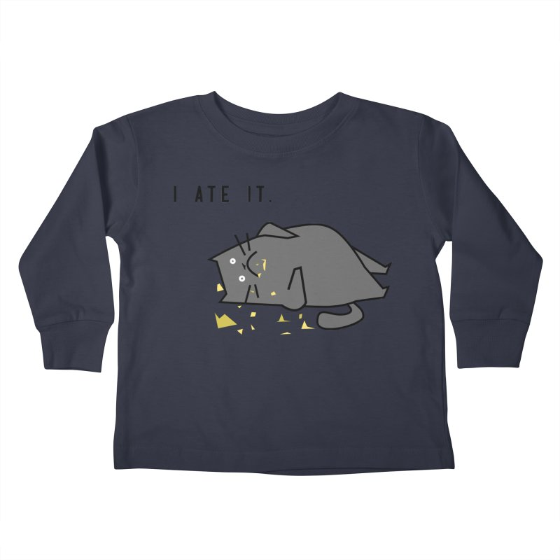 The Cat Ate It Kids Toddler Longsleeve T-Shirt by Ginger's Shop